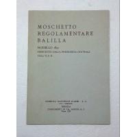 MANUALE MOSCHETTO REGOLAMENTARE BALILLA
