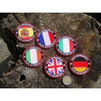 SET PATCH NAZIONI VELCRO