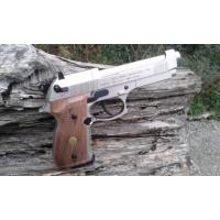 BERETTA M92 NIKELATA GUANCETTE IN LEGNO